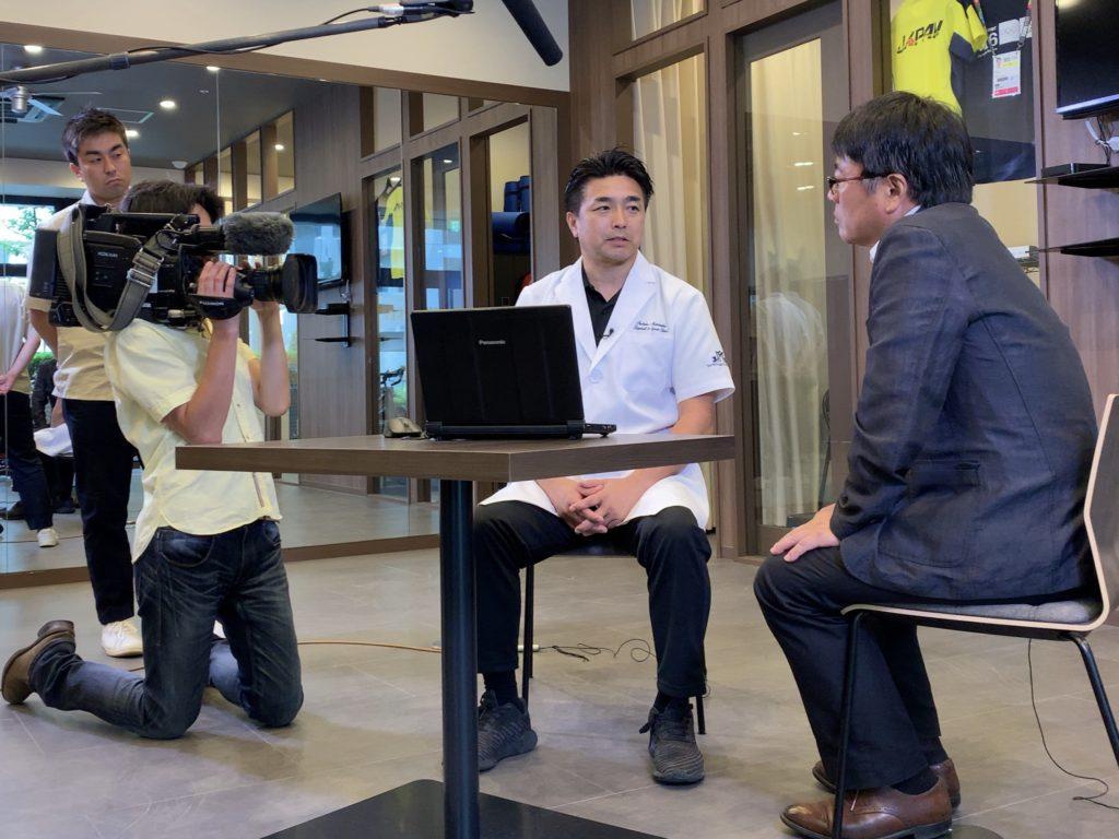 NHK「サンデースポーツ2020」の取材を受けました!