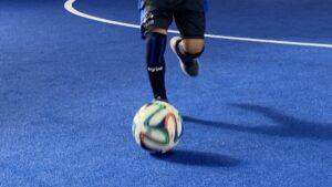 サッカー選手の打撲